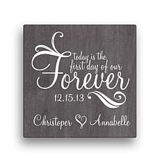 "Forever Personalized Canvas Wall Art - 12"" x 12"""