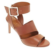 Franco Sarto Paisley Leather Stacked Heel Sandal