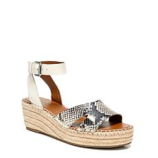Franco Sarto Pellia Leather and Snakeskin Espadrille