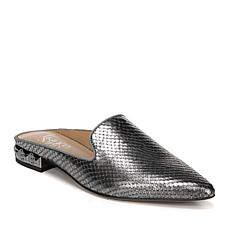 Franco Sarto Samantha Metallic Snake-Embossed Leather Mule