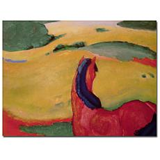 Franz Marc Horse in a Landscape 24x18