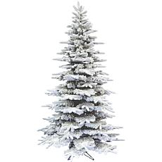 Fraser Hill Farm 10' Flocked Mountain Pine Christmas Tree