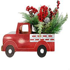 "Fraser Hill Farm 20"" Christmas Farmhouse Truck w  Berries & Pinecones"