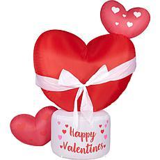 Fraser Hill Farm 8' Inflatable Valentine's Heart w/ Lights Storage Bag