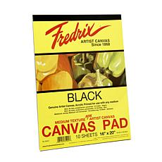 "FREDRIX Black Canvas 10-Sheet Pad 16"" x 20"""