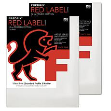 Fredrix Red Label Stretched Cotton Canvas 2-pack