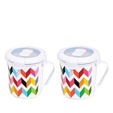French Bull Set of 2 Soup Mugs with Lids