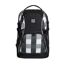 "FUL Marlon 19"" Laptop Backpack - Black/White"