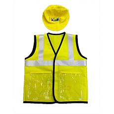 Funphix Busy Builders Construction Vest & Hat for Age 4-12 Years