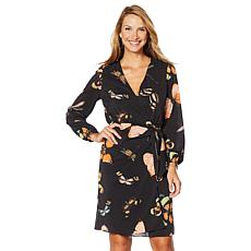 G by Giuliana Butterfly-Print Wrap Dress