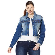 G by Giuliana Downtown Denim Frayed Denim Jacket