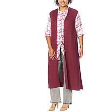 G by Giuliana Duster Sweater Knit Vest