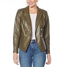 G by Giuliana Faux Leather Blazer