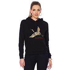 G by Giuliana Hooded Sweatshirt with Beading