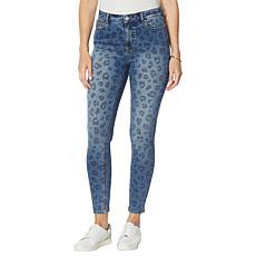 G by Giuliana Leopard-Patterned Denim Skinny Jean
