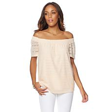 G by Giuliana Off-the-Shoulder Lace Top