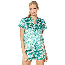 G by Giuliana Palm-Print 2-piece PJ Set