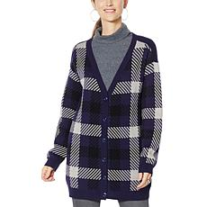 G by Giuliana Plaid Boyfriend Cardigan