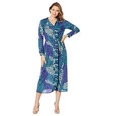 G by Giuliana Pleated Trim Maxi Dress