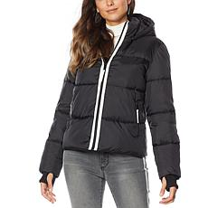 G by Giuliana Puffer Jacket with Removable Hood