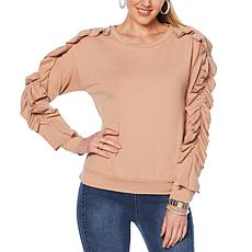 G by Giuliana Ruffle Detail Sweatshirt