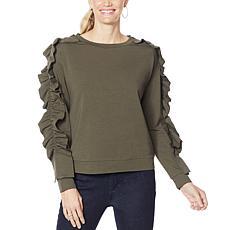 G by Giuliana Ruffle Detail Sweatshirt