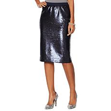G by Giuliana Sequined Pencil Skirt