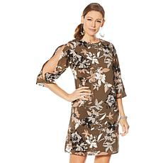 G by Giuliana Slit Sleeve Printed Dress