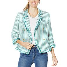 G by Giuliana Stripe Tweed Blazer