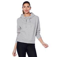 G by Giuliana Sweatshirt Hoodie with Mesh Inserts