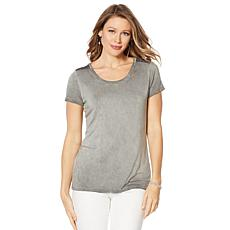 G by Giuliana Tee with Beaded Trim