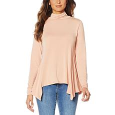 G by Giuliana Turtleneck Fit and Flare Tee