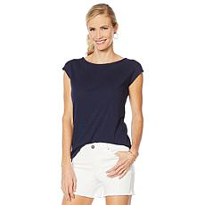 G by Giuliana Twist-Back Slub Tee