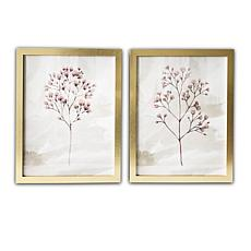 Gallery 57 Blush Branches 16x20, Set of 2 Framed Art