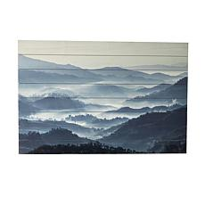 "Gallery 57 Misty Mountains 24"" x 36"" Print on Wood"