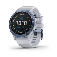 Garmin fenix 6 Pro Solar Multisport GPS Watch-Mineral Blue/Whitestone