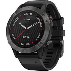 Garmin Fenix 6 Sapphire Multisport GPS Watch in Carbon Gray