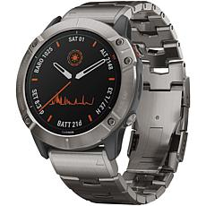 Garmin Fenix 6X Pro Solar GPS Watch in Titanium