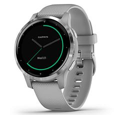 Garmin Vivoactive 4S GPS Smartwatch in Silver Stainless Steel and Gray