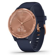 Garmin Vivomove 3S Hybrid Smartwatch in Rose Gold and Navy