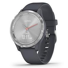 Garmin Vivomove 3S Hybrid Smartwatch in Silver and Granite Blue