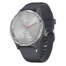 Garmin Vivomove 3S Hybrid Smartwatch in Silver and Granite Blue