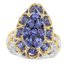 Gems by Michael 18K Goldtone Tanzanite Pear-Shape Ring