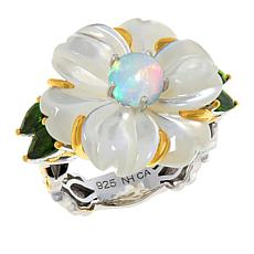 Gems by Michael Mother-of-Pearl and Multi-Gemstone Ring