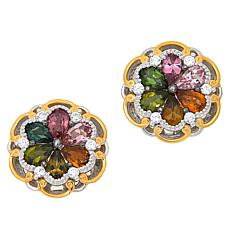 Gems by Michael Multicolor Tourmaline and Zircon Earrings