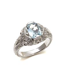 Generations® 1912 - 1.4ctw Aquamarine and White Zircon  Ring