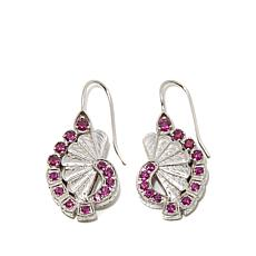 "Generations® 1912 - 1.84ctw Rhodolite ""Fan"" Drop Earrings"
