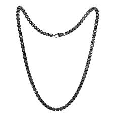 "Geoffrey Beene Men's 24"" Stainless Steel Pattern Box Chain Necklace"