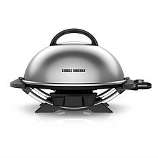 George Foreman Indoor/Outdoor Domed 15+ Electric Grill - Silver