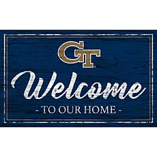 "Georgia Tech Team Color Welcome Sign - 11x19"""